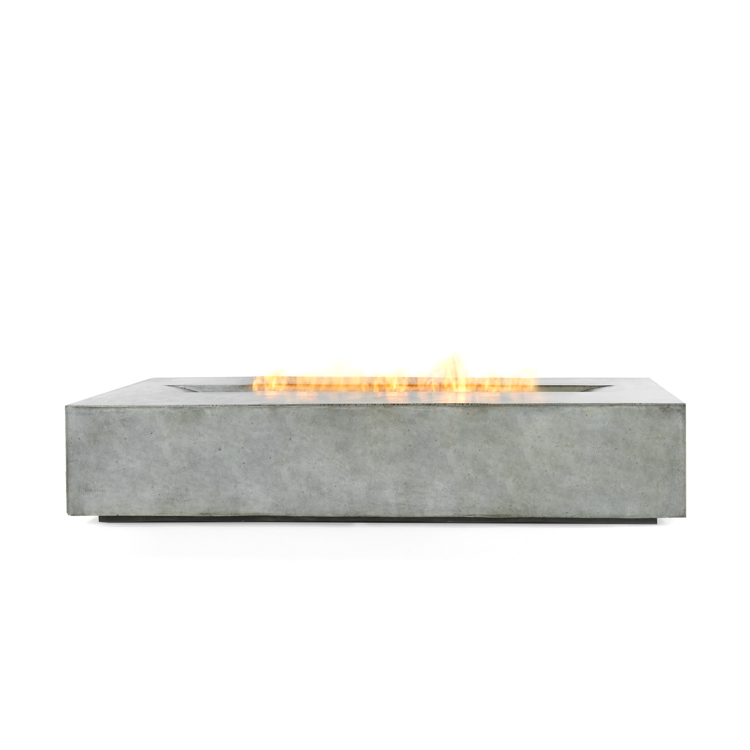 Brown Jordan Fires Flo Fire Pit Coffee Table Natural