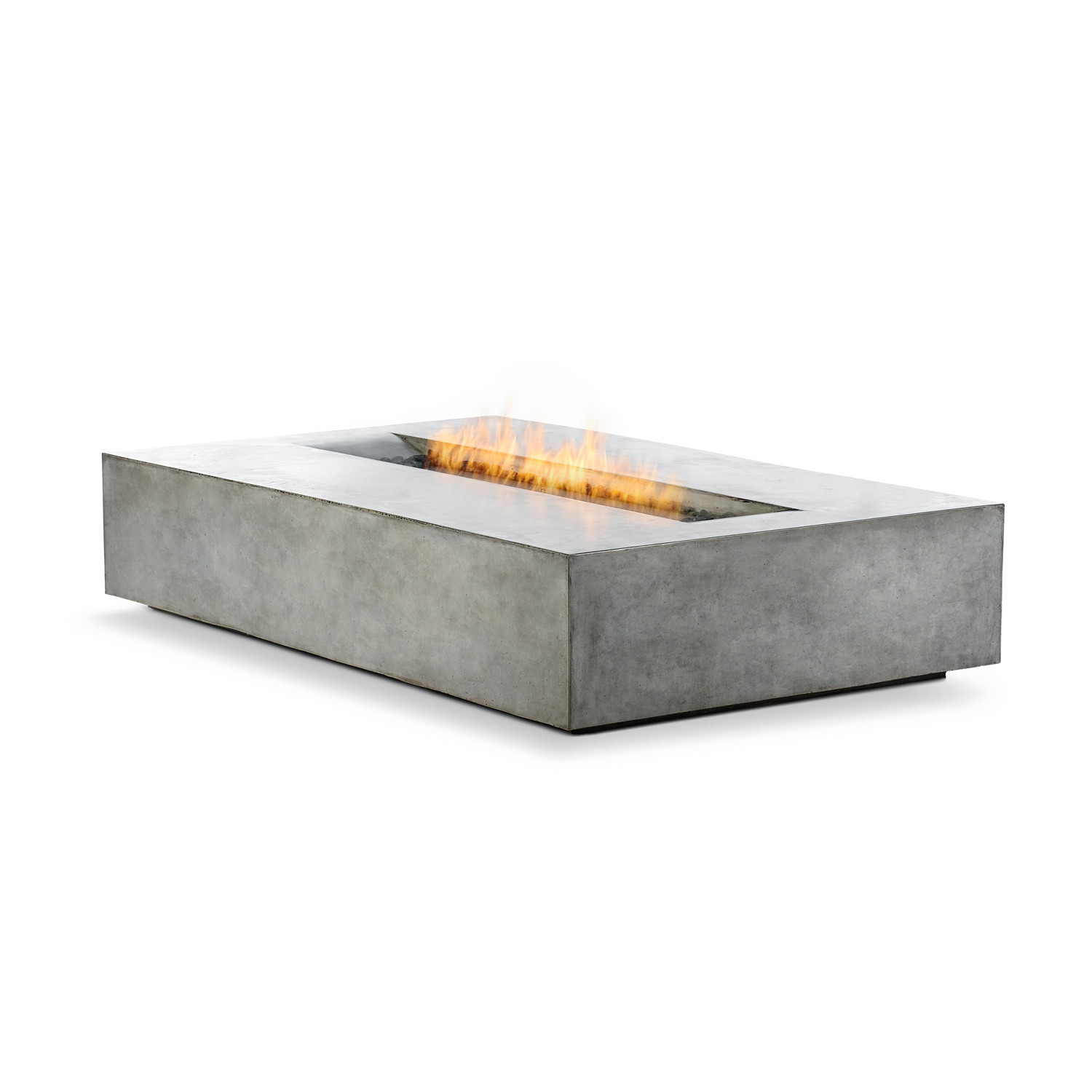 Brown Jordan Fires Flo Fire Pit Coffee Table Black Eco