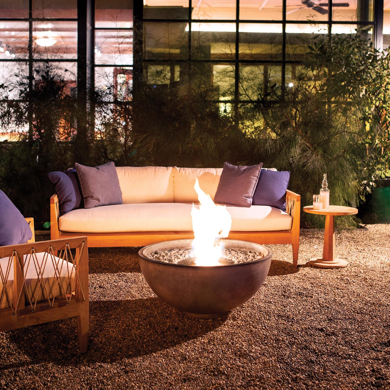 Brown Jordan Fires // Urth Bowl Fire Pit (Natural Gray) - Brown Jordan Fires // Urth Bowl Fire Pit (Natural Gray) - Eco Smart