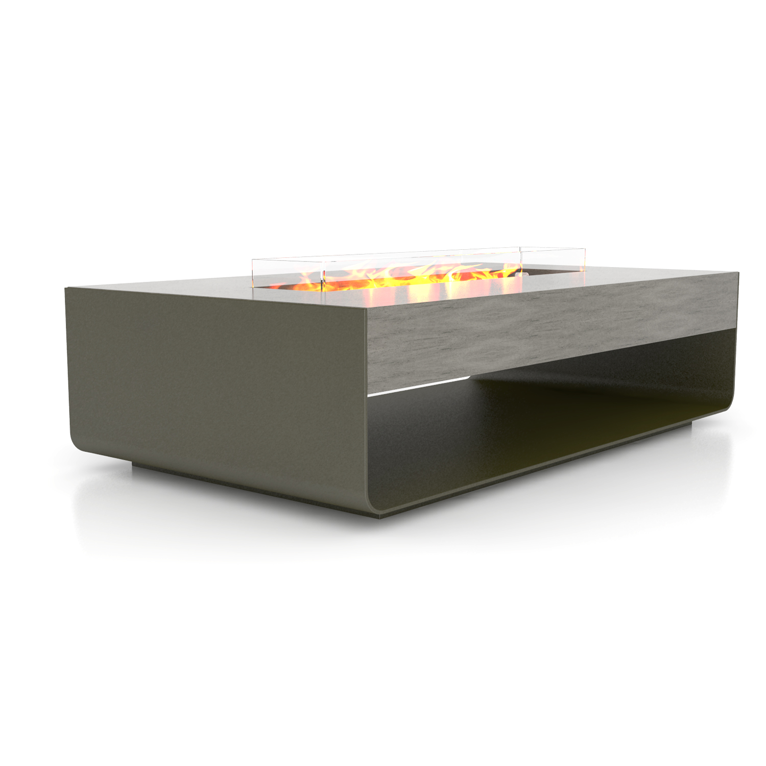 brown jordan fires stage fire pit coffee table eco smart