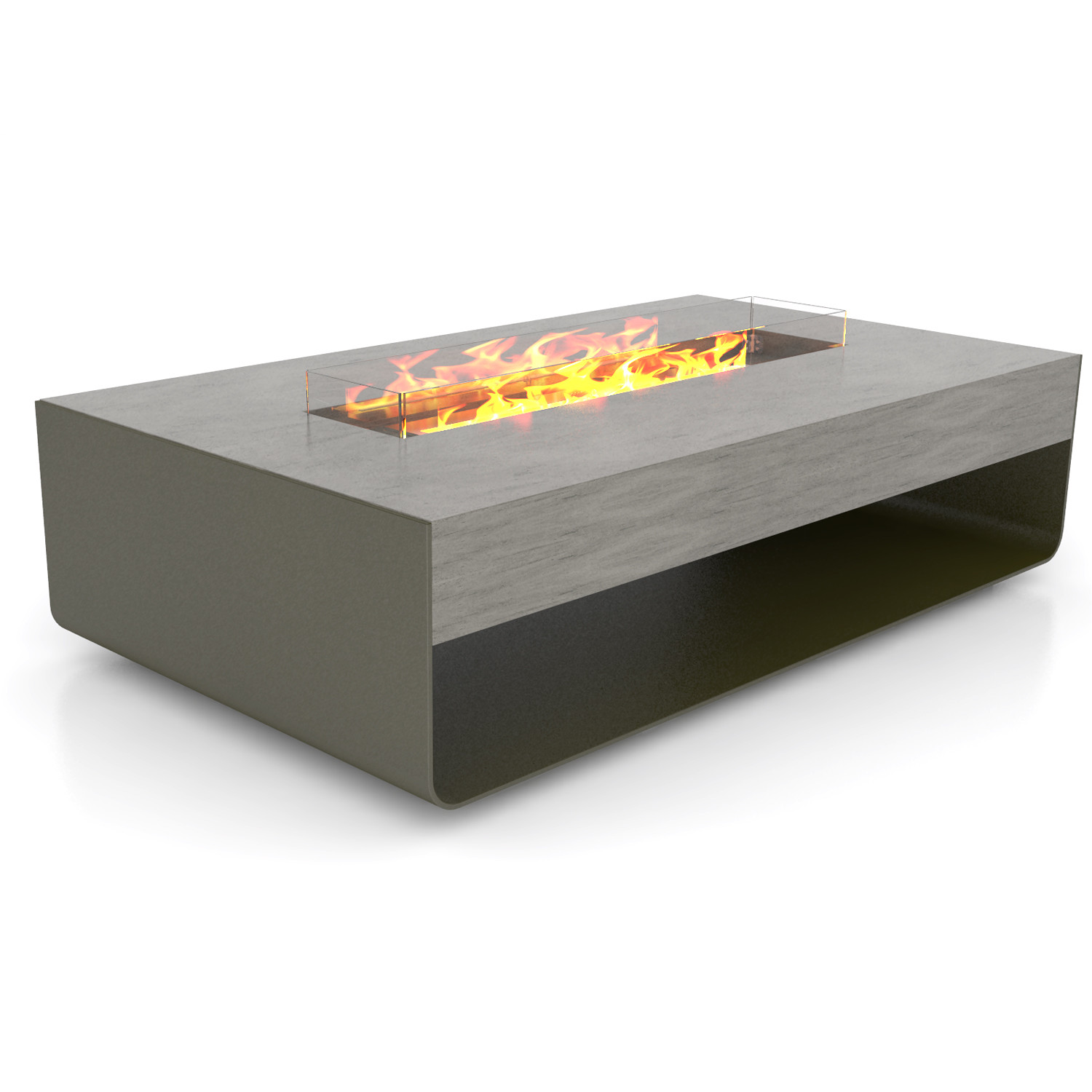 Brown Jordan Fires Stage Fire Pit Coffee Table Eco