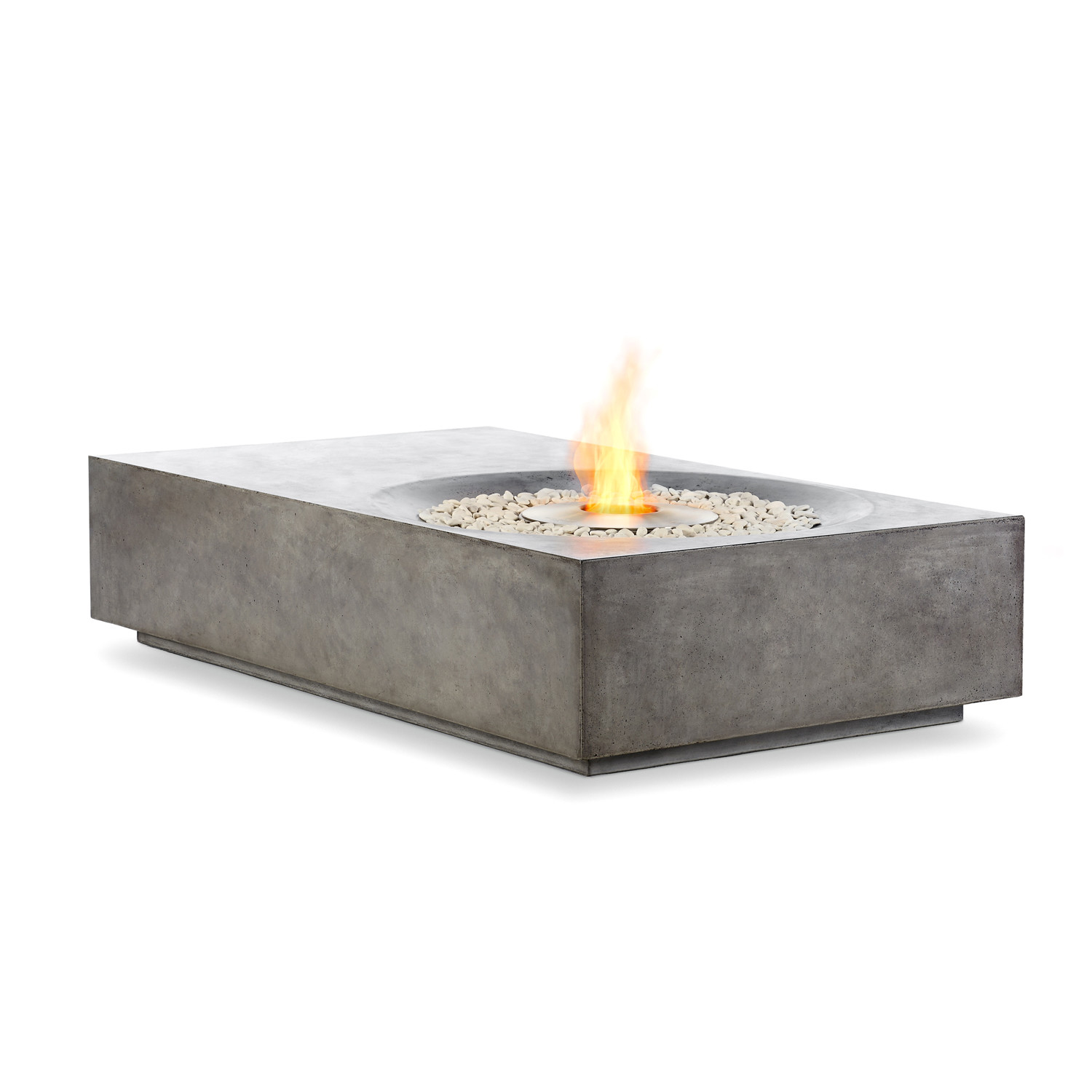 Brown Jordan Fires Equinox Fire Pit Coffee Table Natural Gray