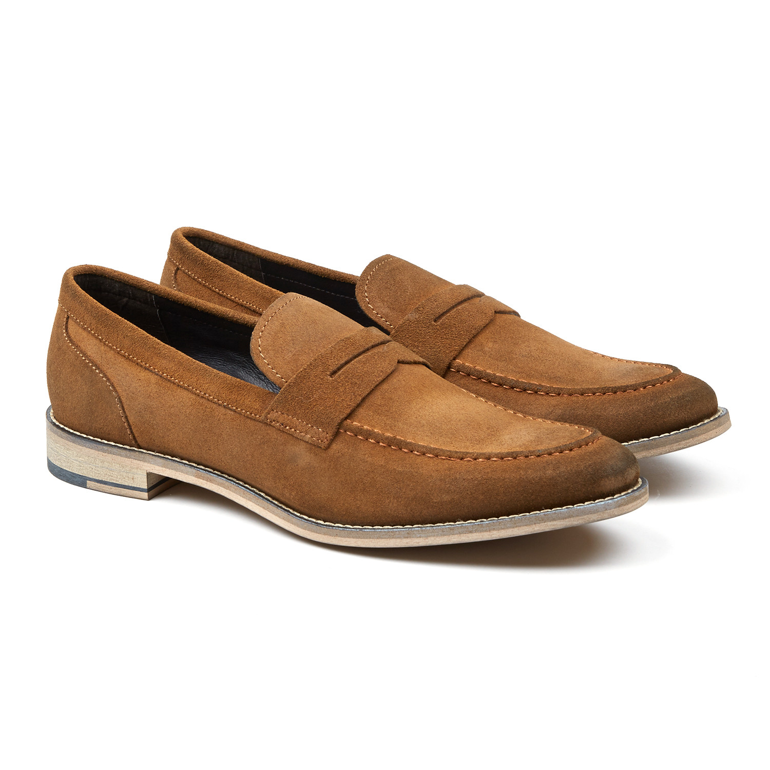 bafb59c5c8f Clark Suede Penny Loafer    Tan (US  10) - GORDON RUSH - Touch of Modern