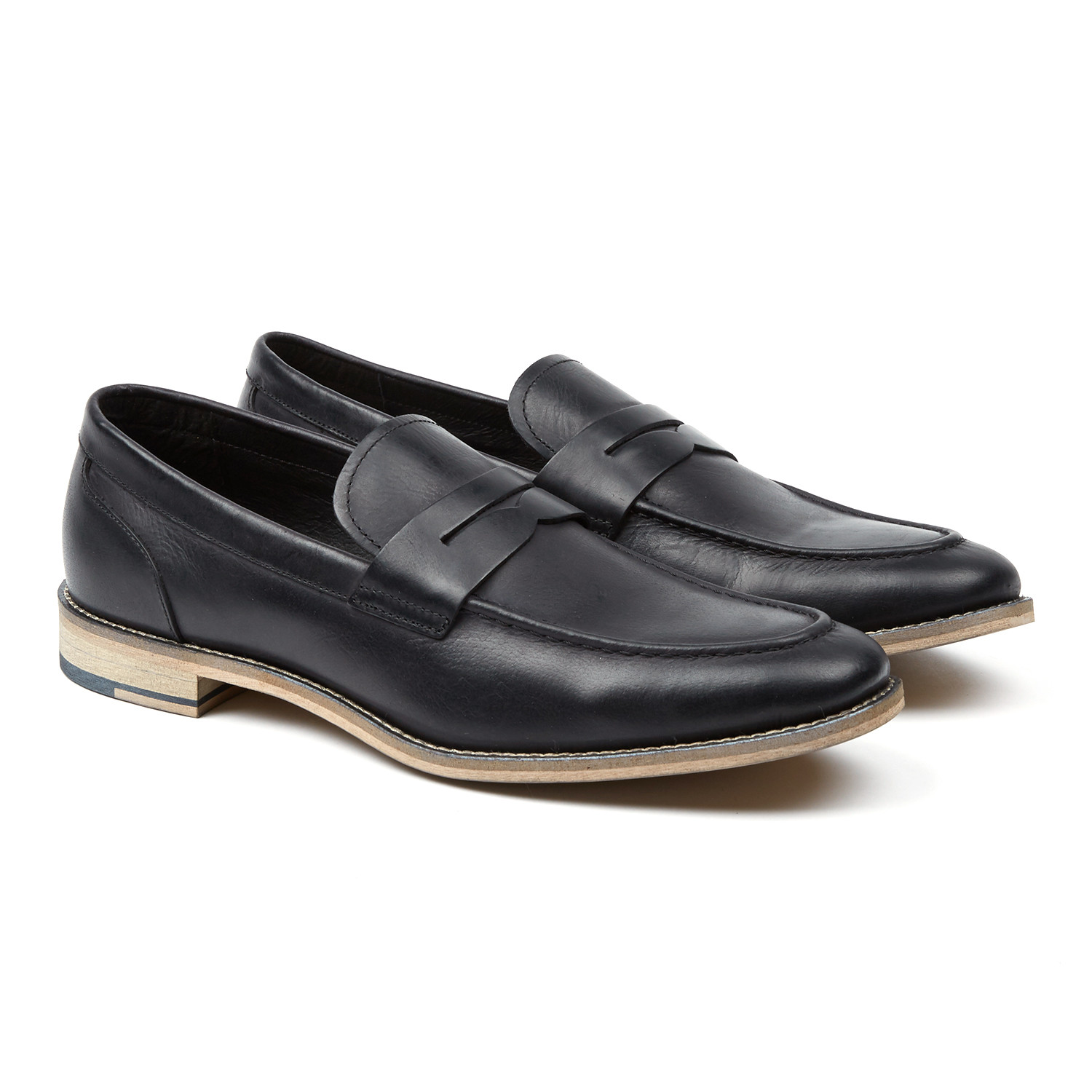 5f20baaf633 Clark Suede Penny Loafer    Black (US  7) - Rush By Gordon Rush ...