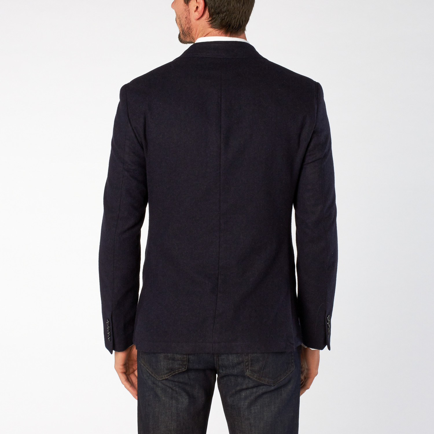 Double Sided Fabric Sport Coat // Rich Navy (US: 36S ...