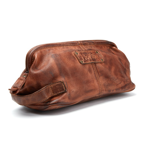 Leather Wash Bag // Tan