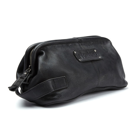 Leather Wash Bag // Black