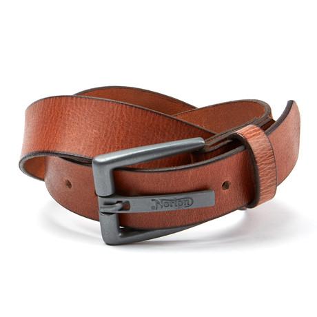 Embossed Buckle Belt // Tan