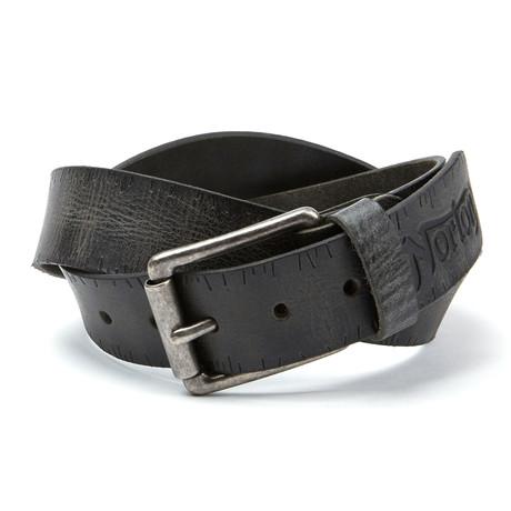 Embossed Belt // Black