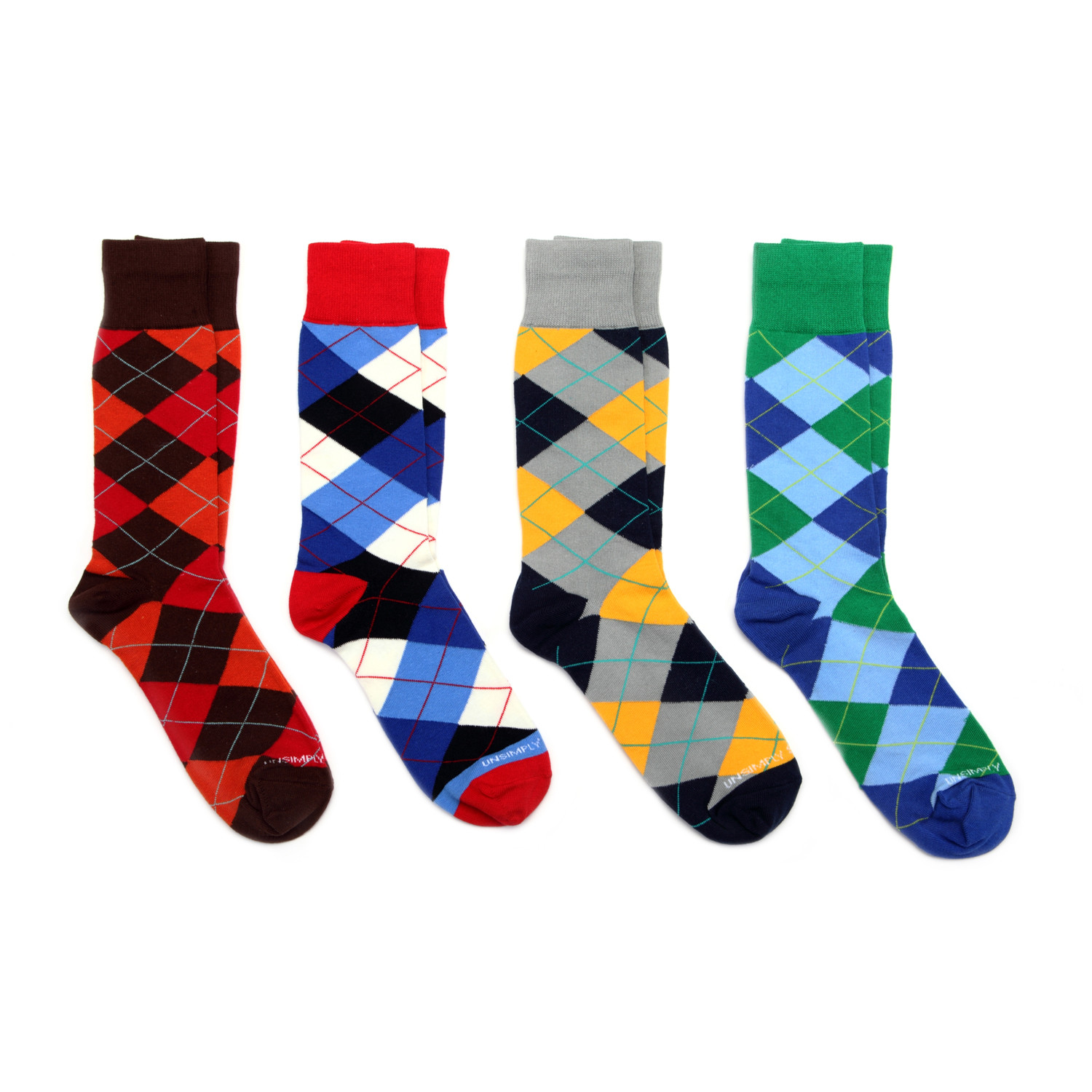 Dress socks argyle pack of 4 unsimply stitched touch of