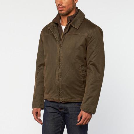 2-in-1 Zip Up Jacket // Brown