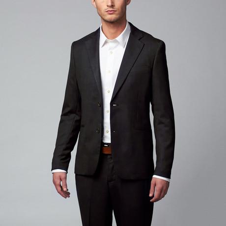 Jacob Holston // Mario Solid Two-Button Blazer // Black (M)