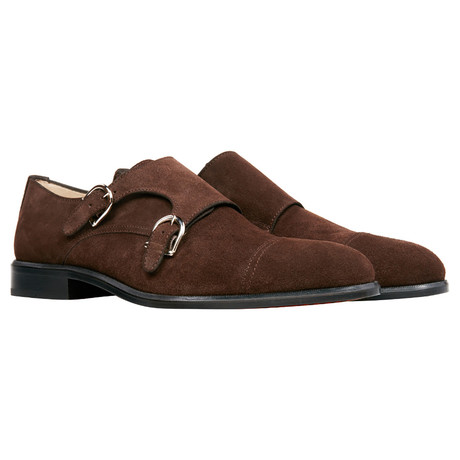 Suede Double Monk // Brown