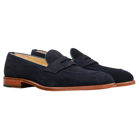 Suede Penny Loafer // Navy