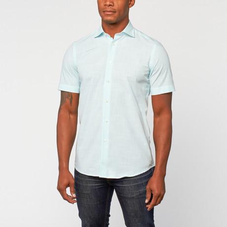 Cotton Slim Fit korte mouw Dress shirt // Mint