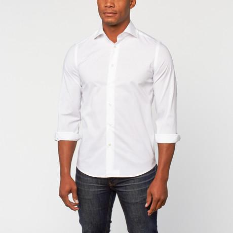 Cotton Slim Fit Dress Shirt // White