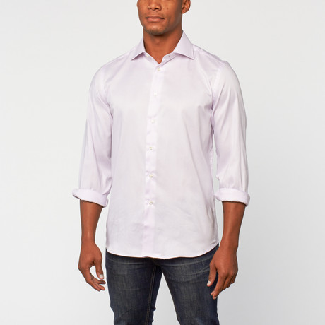 Cotton Slim Fit Shirt Dress // Lilac