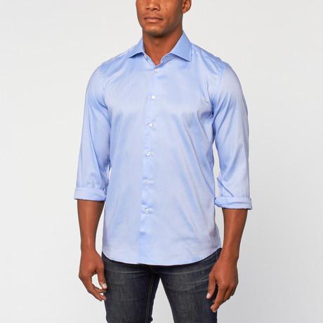 Cotton Slim Fit Dress Shirt // Air Blue
