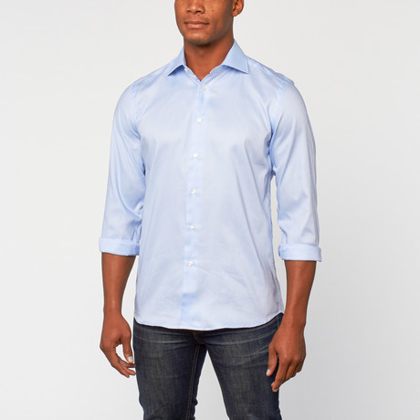 Cotton Slim Fit Dress Shirt // Powder Blue