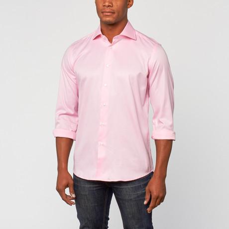 Cotton Slim Fit Shirt Dress // Helder Roze