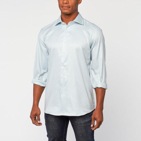 Cotton Slim Fit Shirt Dress // Mist