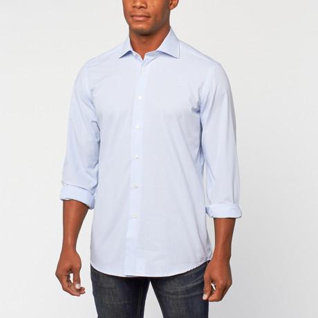 Cotton Slim Fit Dress Shirt // Blue Check