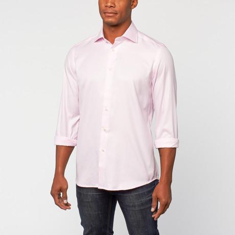 Cotton Slim Fit Shirt Dress // Roze