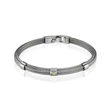 Steel Cable Bracelet // Silver (XS)