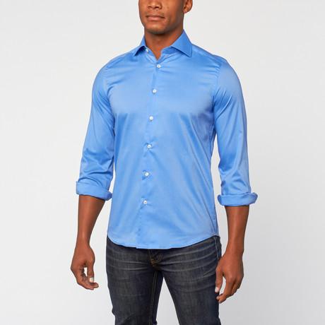 Cotton Slim Fit Dress Shirt // Bright Blue