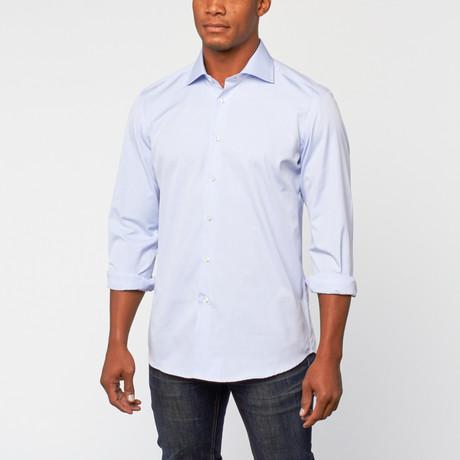 Cotton Slim Fit Dress Shirt // Cloud Blue
