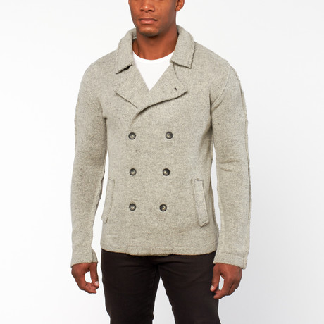 Ludwig Double Breasted Sweater // Greige