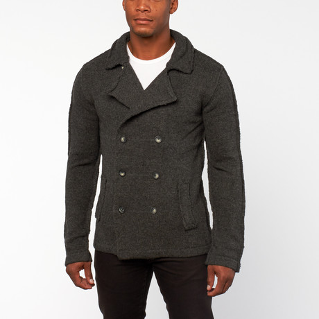 Ludwig Double Breasted Sweater // Houtskool