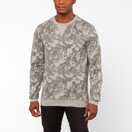 Keith Printed Franse Terry Pullover // Grey