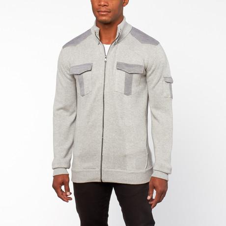 Mangus Full-Zip Sweater // Heather Grey