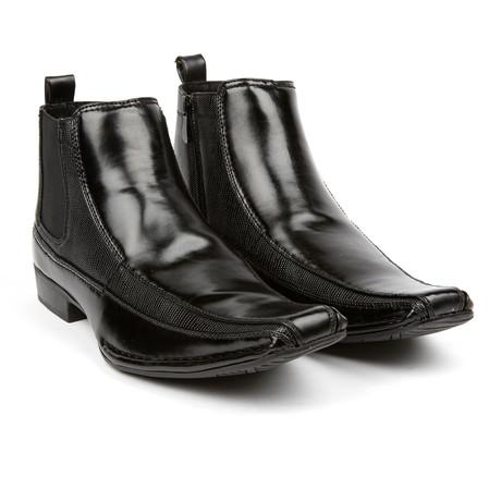 Mixed Material Chelsea Boot + Zijrits // Black