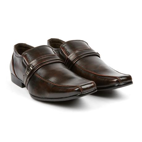 Dress Loafer + Buckle // Dark Brown