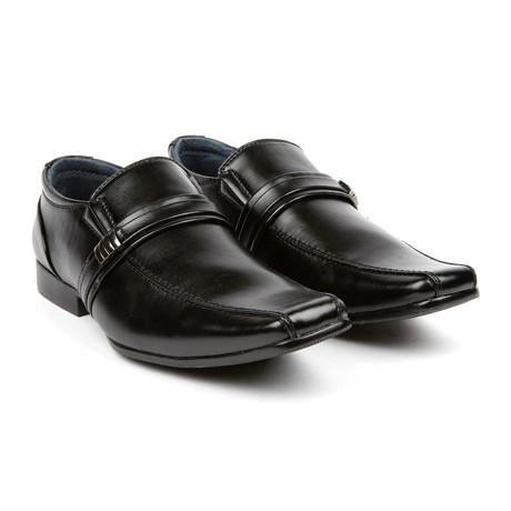 Dress Loafer + Buckle // Black