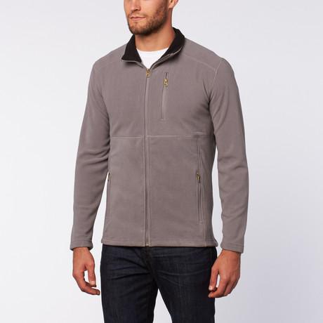 Micro Fleece Zip Jacket // Grey
