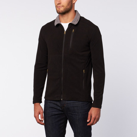 Micro Fleece Zip Jacket // Black