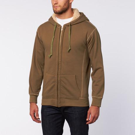 Hooded Sherpa Fleece // Olive
