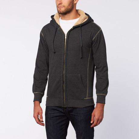Hooded Sherpa Fleece // Houtskool