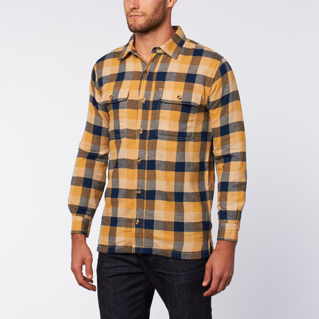 Flanellen Shirt Jacket // Geel + Blauw + Khaki