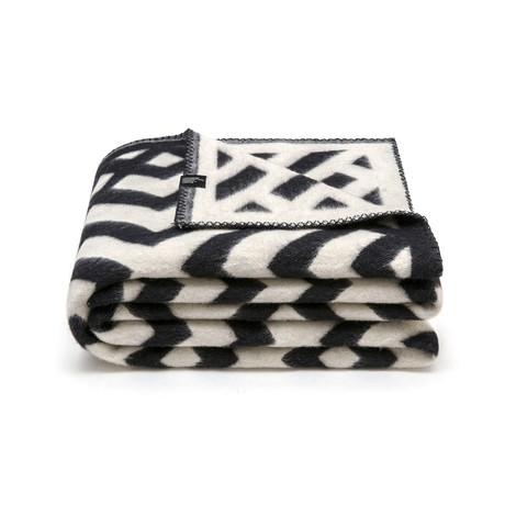 Kross Merino Wollen Deken // Black + White