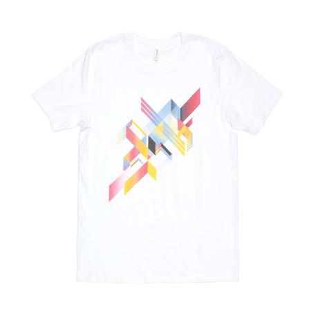 Prisma van de regenboog Tee // White