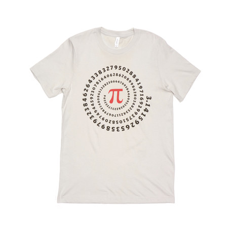 Radial Pi Tee // Silver