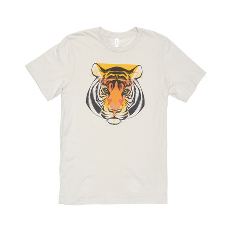 Triangle Tiger Tee // Siver
