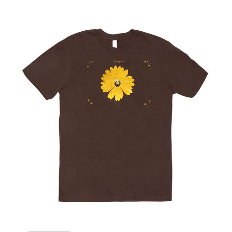 Flower Power Tee // Brown