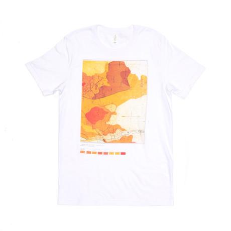 Map Topo Tee // White