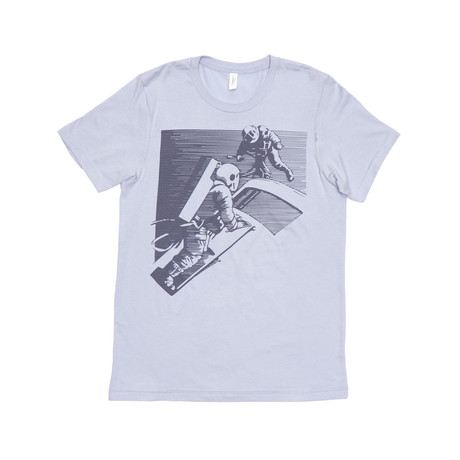 Retro Astronaut Tee // Light Blue