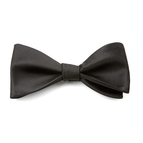 Silk Tie-To-Tie Bowtie // Black